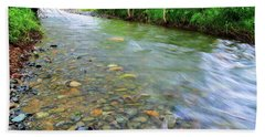 Creek Of Many Colors Hand Towel by Donna Blackhall