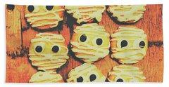 Creepy And Kooky Mummified Cookies  Bath Towel