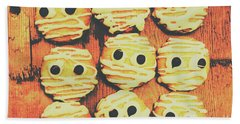 Creepy And Kooky Mummified Cookies  Bath Towel