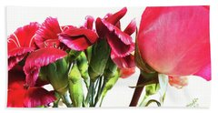 Creepy-red Flowers Bath Towel