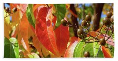 Crepe Myrtle Autumn Color Bath Towel