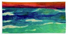 Crepe Paper Sunset Bath Towel