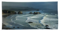 Crescent Beach And Surf Hand Towel
