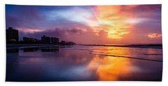 Crescent Beach Sunrise Bath Towel