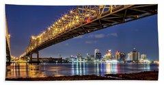 Crescent City Bridge, New Orleans Bath Towel