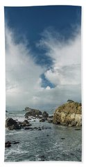 Crescent City Coast And Clouds Hand Towel