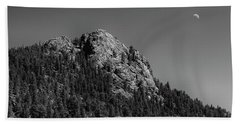 Bath Towel featuring the photograph Crescent Moon And Buffalo Rock by James BO Insogna