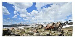 Crest Of Big Horn Pass In Wyoming Bath Towel