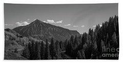 Crested Butte Panorama Bw Hand Towel