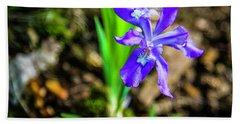 Crested Dwarf Iris Hand Towel