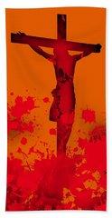 Hand Towel featuring the digital art Cricifixion.1 by Alberto RuiZ