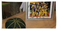 Bath Towel featuring the photograph Cricket Memorabilia  by Miroslava Jurcik