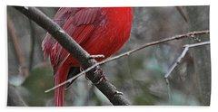 Crimson Cardinal Bath Towel