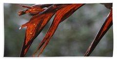 Crimson Leaf In The Amazon Rainforest Bath Towel