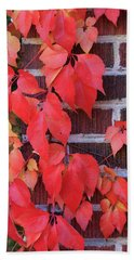 Crimson Leaves Hand Towel