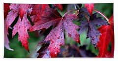 Crimson Leaves Bath Towel by Katie Wing Vigil