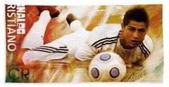 Cristiano Ronaldo 092f Hand Towel by Gull G