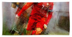 Cristiano Ronaldo  Hand Towel by Gull G