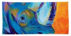 Critically Endangered Black Rhino Hand Towel