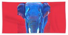 Critically Endangered Sumatran Elephant  Bath Towel