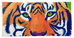 Critically Endangered Sumatran Tiger Bath Towel