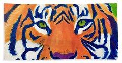 Critically Endangered Sumatran Tiger Bath Towel