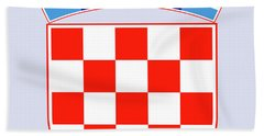 Croatia Coat Of Arms Bath Towel by Movie Poster Prints