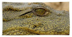 Bath Towel featuring the photograph Croc by Betty-Anne McDonald