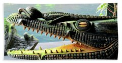 Crocodile Mouth Hand Towel by Randall Weidner