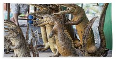 Crocodiles Rock  Hand Towel by Chuck Kuhn