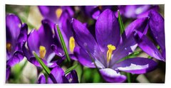 Crocus Amongst Us Hand Towel
