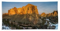Crooked River At Smith Rock Hand Towel