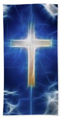 Cross Abstract Bath Towel by Bruce Rolff