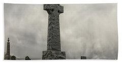 Cross At Grave Flora Macdonald Hand Towel