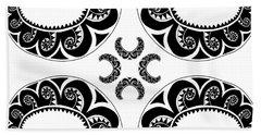 Cross Maori Style Hand Towel