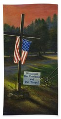 Cross Of Remembrance Hand Towel