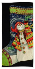 Cross-stitch Stocking Hand Towel by Farol Tomson
