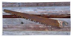 Crosscut Saw Bath Towel