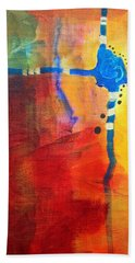 Crossed Abstract Cruciform Painting Hand Towel