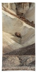 Bath Towel featuring the photograph Crossing Paths - Death Valley by Sandra Bronstein