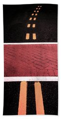 Crosswalk Conversion Of Traffic Lines Bath Towel