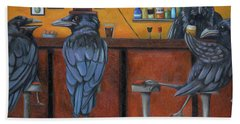 Bath Towel featuring the painting Crow Bar by Leah Saulnier The Painting Maniac