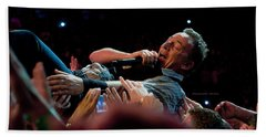 Crowd Surfing Hand Towel