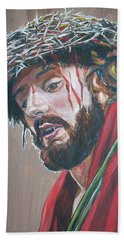 Bath Towel featuring the painting Crown Of Thorns by Bryan Bustard