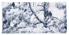 Crows In Snow Hand Towel