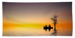 Bath Towel featuring the pyrography Cruise by Bess Hamiti