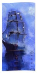 Cruising The Open Seas Bath Towel