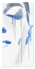Crying In Pain Hand Towel by ISAW Gallery