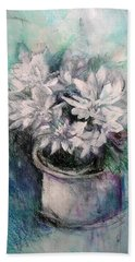 Crysanthymums Hand Towel by Chris Hobel