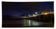 Crystal Beach Pier Blue Hour  Bath Towel
